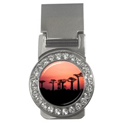 Baobabs Trees Silhouette Landscape Money Clips (cz)