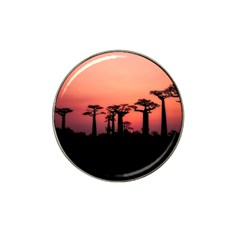 Baobabs Trees Silhouette Landscape Hat Clip Ball Marker