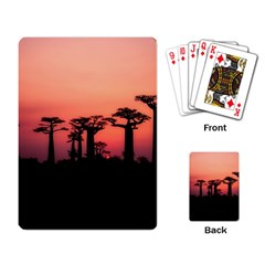 Baobabs Trees Silhouette Landscape Playing Card