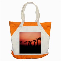 Baobabs Trees Silhouette Landscape Accent Tote Bag