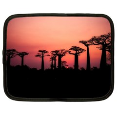 Baobabs Trees Silhouette Landscape Netbook Case (large)