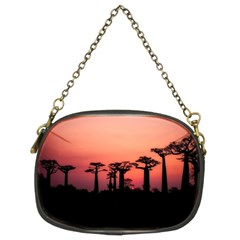Baobabs Trees Silhouette Landscape Chain Purses (two Sides)