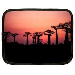 Baobabs Trees Silhouette Landscape Netbook Case (xxl)