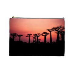 Baobabs Trees Silhouette Landscape Cosmetic Bag (large)