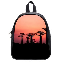 Baobabs Trees Silhouette Landscape School Bag (small)