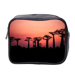 Baobabs Trees Silhouette Landscape Mini Toiletries Bag 2 Side