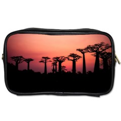 Baobabs Trees Silhouette Landscape Toiletries Bags 2 Side