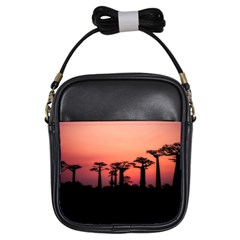Baobabs Trees Silhouette Landscape Girls Sling Bags