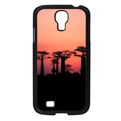 Baobabs Trees Silhouette Landscape Samsung Galaxy S4 I9500/ I9505 Case (black)
