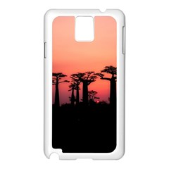 Baobabs Trees Silhouette Landscape Samsung Galaxy Note 3 N9005 Case (white)
