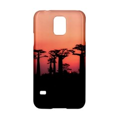Baobabs Trees Silhouette Landscape Samsung Galaxy S5 Hardshell Case