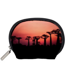 Baobabs Trees Silhouette Landscape Accessory Pouches (small)