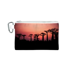 Baobabs Trees Silhouette Landscape Canvas Cosmetic Bag (s)