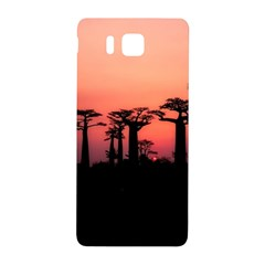 Baobabs Trees Silhouette Landscape Samsung Galaxy Alpha Hardshell Back Case