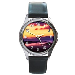 Great Smoky Mountains National Park Round Metal Watch