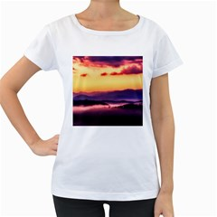 Great Smoky Mountains National Park Women s Loose Fit T Shirt (white)