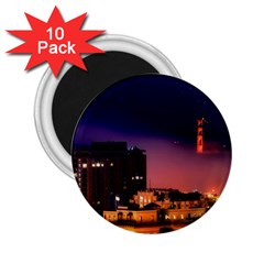San Francisco Night Evening Lights 2 25  Magnets (10 Pack)