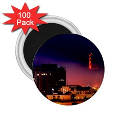 San Francisco Night Evening Lights 2 25  Magnets (100 Pack)