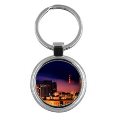 San Francisco Night Evening Lights Key Chains (round)