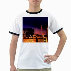 San Francisco Night Evening Lights Ringer T Shirts