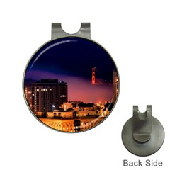 San Francisco Night Evening Lights Hat Clips With Golf Markers