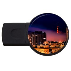 San Francisco Night Evening Lights Usb Flash Drive Round (4 Gb)