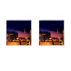 San Francisco Night Evening Lights Cufflinks (square)