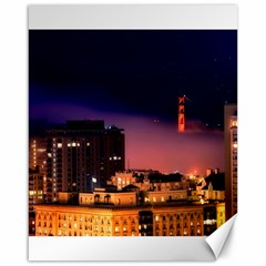 San Francisco Night Evening Lights Canvas 16  X 20
