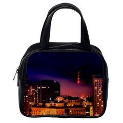 San Francisco Night Evening Lights Classic Handbags (one Side)