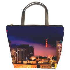 San Francisco Night Evening Lights Bucket Bags