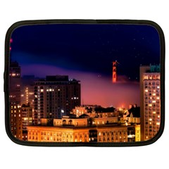 San Francisco Night Evening Lights Netbook Case (xxl)