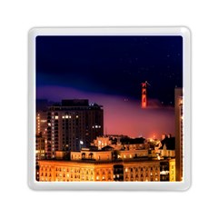 San Francisco Night Evening Lights Memory Card Reader (square)
