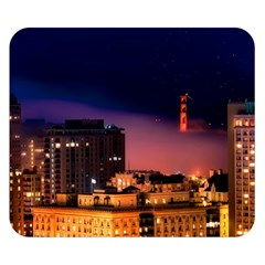 San Francisco Night Evening Lights Double Sided Flano Blanket (small)