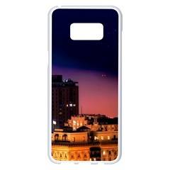 San Francisco Night Evening Lights Samsung Galaxy S8 Plus White Seamless Case
