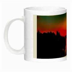 Sunset Dusk Boat Sea Ocean Water Night Luminous Mugs