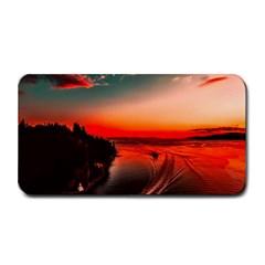 Sunset Dusk Boat Sea Ocean Water Medium Bar Mats