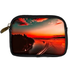Sunset Dusk Boat Sea Ocean Water Digital Camera Cases
