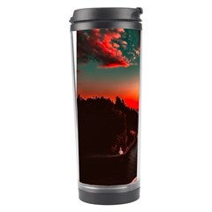 Sunset Dusk Boat Sea Ocean Water Travel Tumbler