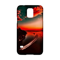 Sunset Dusk Boat Sea Ocean Water Samsung Galaxy S5 Hardshell Case
