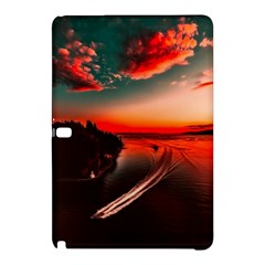 Sunset Dusk Boat Sea Ocean Water Samsung Galaxy Tab Pro 10 1 Hardshell Case