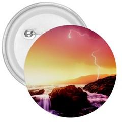 California Sea Ocean Pacific 3  Buttons