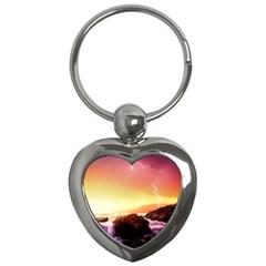 California Sea Ocean Pacific Key Chains (heart)