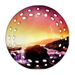 California Sea Ocean Pacific Ornament (round Filigree)