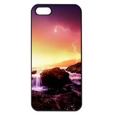 California Sea Ocean Pacific Apple Iphone 5 Seamless Case (black)