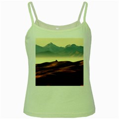 Landscape Mountains Nature Outdoors Green Spaghetti Tank