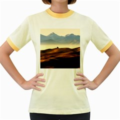 Landscape Mountains Nature Outdoors Women s Fitted Ringer T Shirts