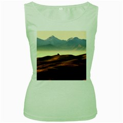 Landscape Mountains Nature Outdoors Women s Green Tank Top