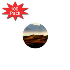 Landscape Mountains Nature Outdoors 1  Mini Magnets (100 Pack)