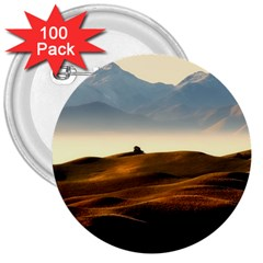 Landscape Mountains Nature Outdoors 3  Buttons (100 Pack)