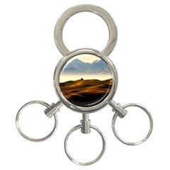 Landscape Mountains Nature Outdoors 3 Ring Key Chains